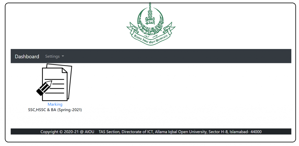 AIOU Guidelines For Uploading of Assignments marks Punching 2021