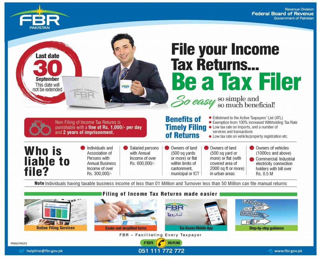 File Income Tax Return - Liability, Benefits, Easiest Procedure FBR