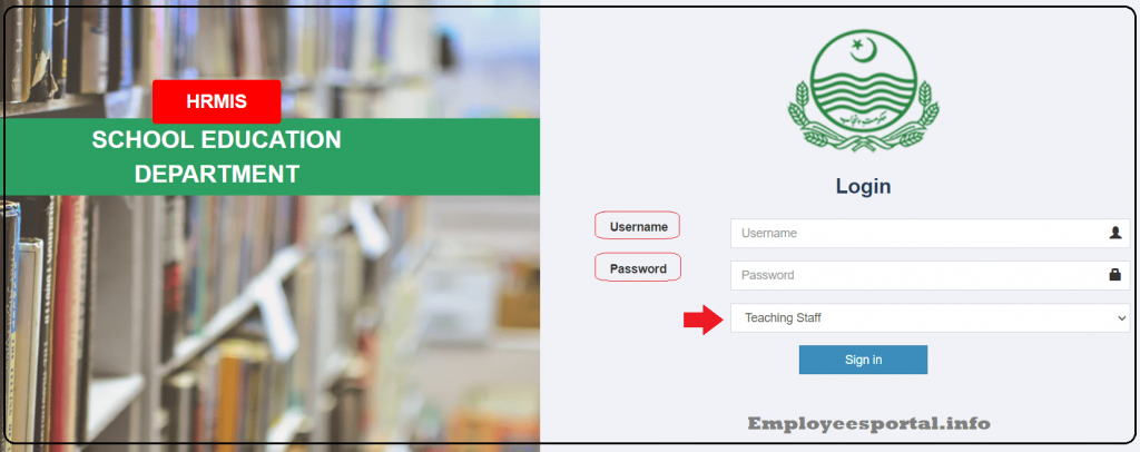 Put CNIC and password on HRMS login